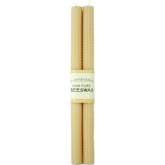 12in Honeycomb Beeswax Taper Candles