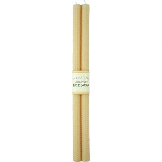 16in Honeycomb Beeswax Taper Candles