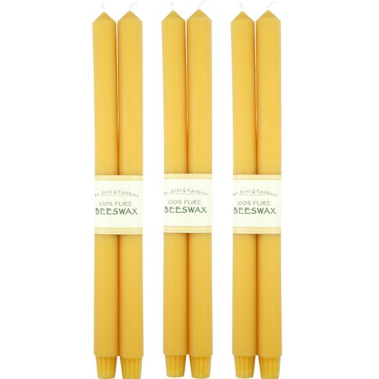 16in Colonial Beeswax Taper Candles