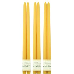 16in Beeswax Taper Candles