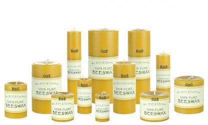 Beeswax Pillar Size Chart