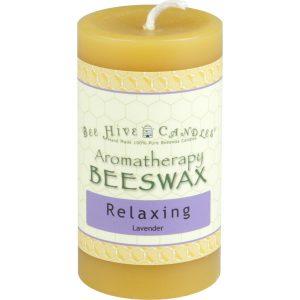 2x3 Aromatherapy Beeswax Pillar Candle