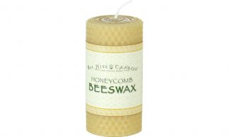 2x4 Honeycomb Beeswax Pillar Candle