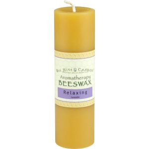 2x6 Aromatherapy Beeswax Pillar Candle