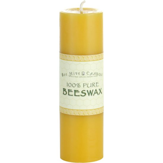 2x6 Beeswax Pillar Candle