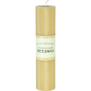2x8 Honeycomb Beeswax Pillar Candle