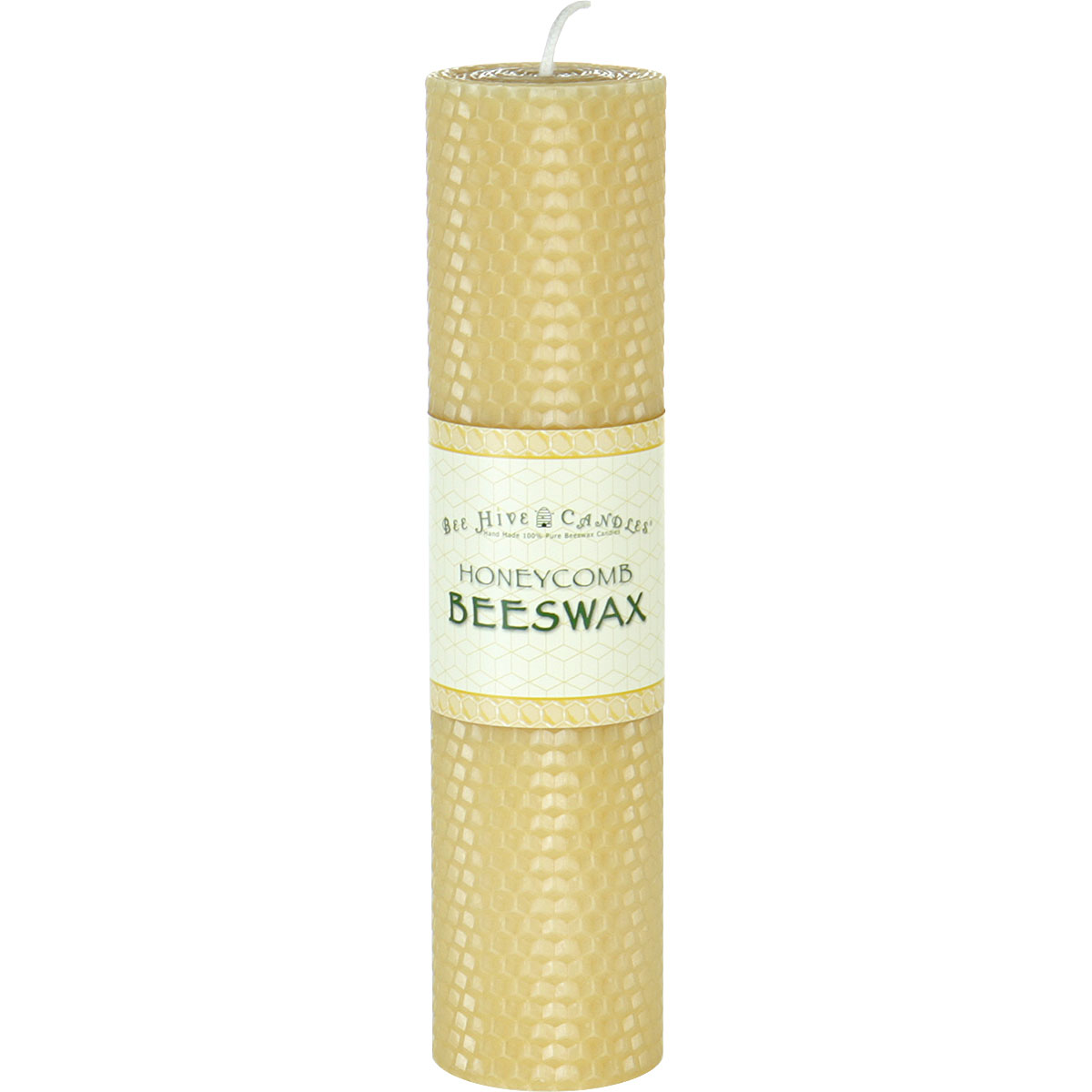 2x8 Honeycomb Beeswax Pillar Candle