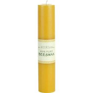 2x9 Beeswax Pillar Candle
