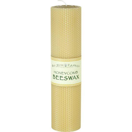 3x12 Honeycomb Beeswax Pillar Candle