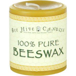 3x3 Beeswax Pillar Candle