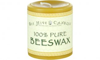 3x3 Beeswax Pillar Candle
