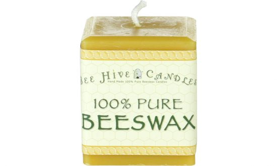 3x3 Square Beeswax Pillar Candle