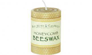 3x4 Honeycomb Beeswax Pillar Candle