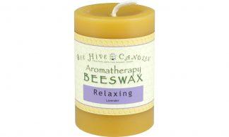 3x4 Aromatherapy Beeswax Pillar Candle
