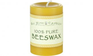 3x4 Beeswax Pillar Candle