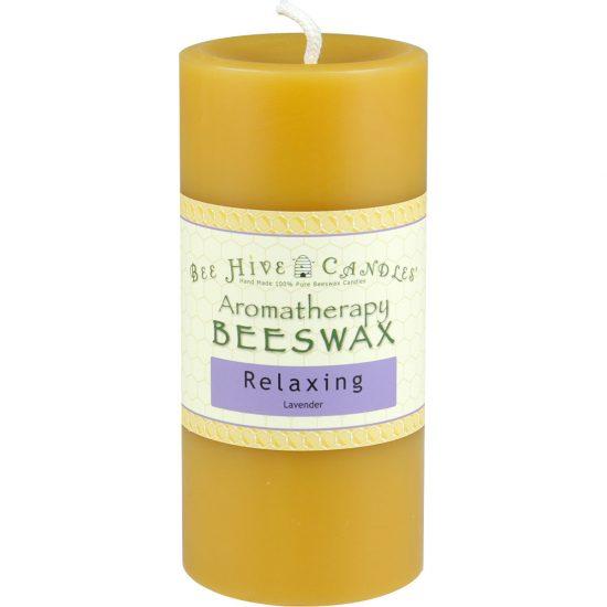 3x6 Aromatherapy Beeswax Pillar Candle
