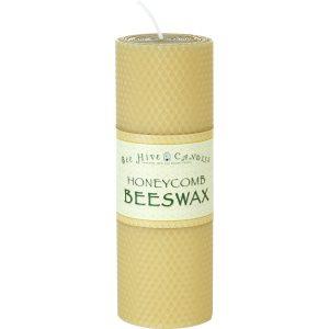 3x8 Honeycomb Beeswax Pillar Candle