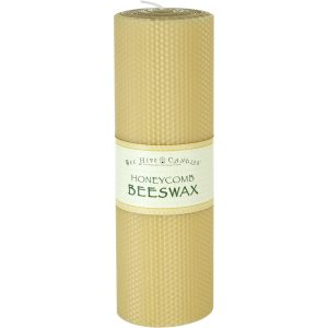 4x12 Honeycomb Beeswax Pillar Candle