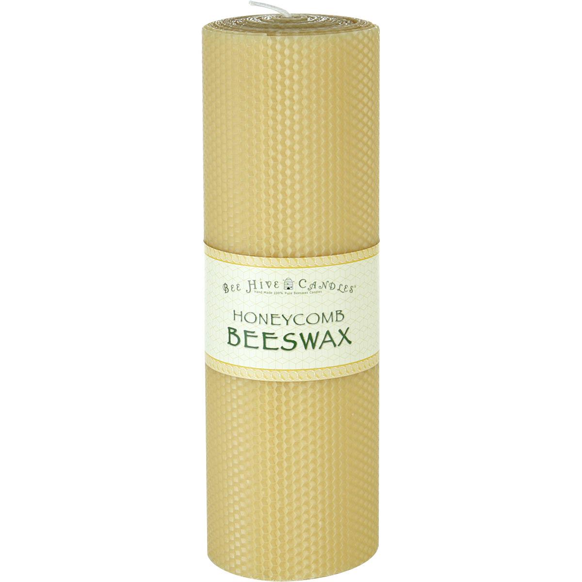 4x12 Honeycomb Beeswax Pillar Candle