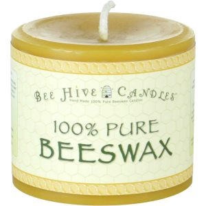 4x3 Beeswax Pillar Candle