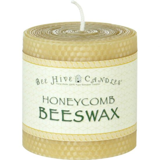 4x4 Honeycomb Beeswax Pillar Candle