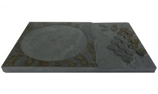 Stone Honeycomb Candle Plate
