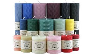 Honeycomb Beeswax Pillars