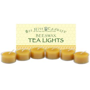Clear Cup Beeswax Tea Light Candles