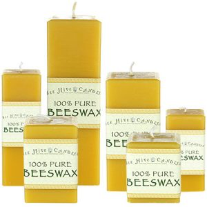 Square Beeswax Pillars